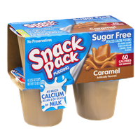 Snack Pack Sugar Free Caramel Pudding - 4 PK