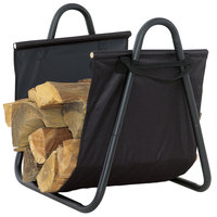 Uniflame - Log Holder with Heavy Canvas Carrier, Black