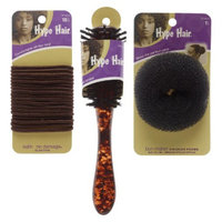 Conair Hype Hair Bundle - Includes 1 Brush, 1 Bun, 18 Elastics
