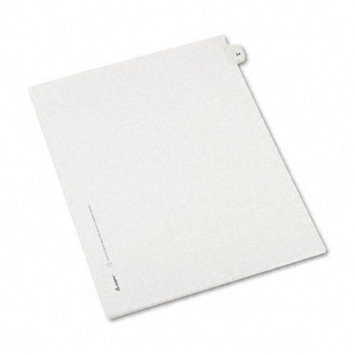 Avery Allstate-Style Legal Side Tab Divider, Title: 24, Letter, White, 25/Pack
