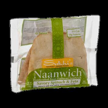 Sukhi's Naanwich Flatbread Sandwich Savory Spinach & Feta