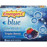 Emergen-C Blue Supports Clean Water Efforts 1,000 mg Vitamin C Triple Berry