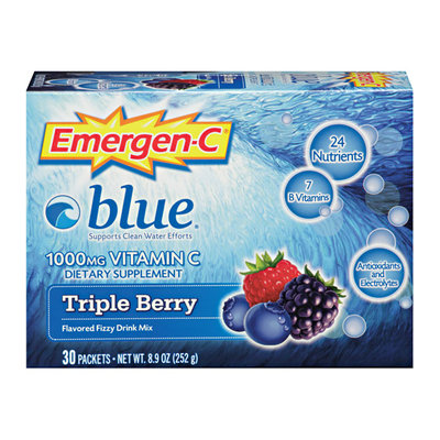 Emergen-C Blue Health & Energy Booster Vitamin C 1000mg Berry Blue