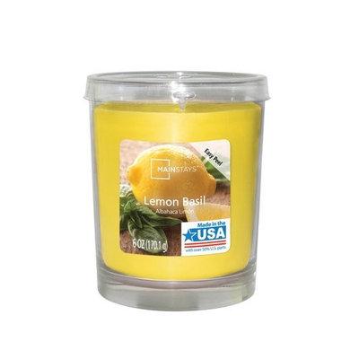 Mainstays 6 oz Lemon Basil Jar Candle