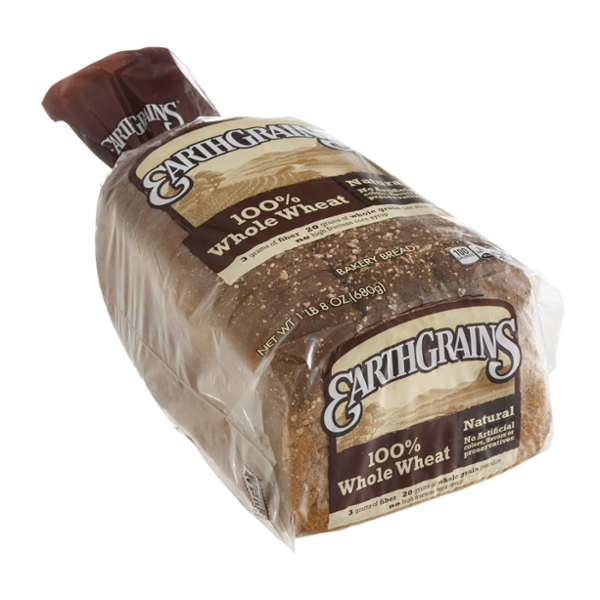 EarthGrains Bakery Bread 100% Whole Wheat