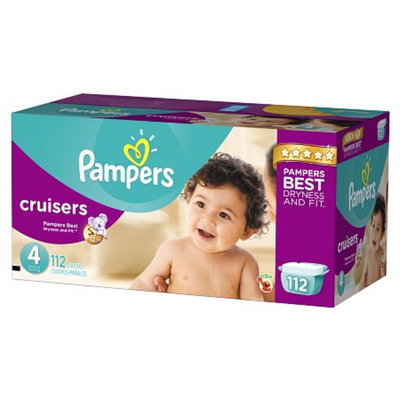 Pampers Cruisers Diapers Giant Pack - Size 4 (112 Count)