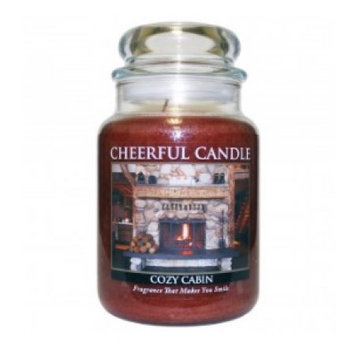A Cheerful Candle JC23 15Oz. Cozy Cabin Signature Colonial Jar