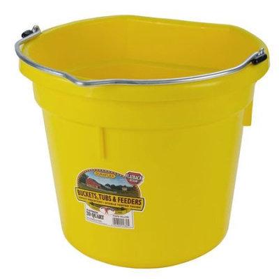 Miller Mfg Inc Miller Mfg Co Inc Flat Back Plastic Bucket- Yellow 20 Quart - P20FBYELLOW