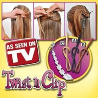 As Seen On TV Twist N Clip Pack of 4 Plus Bonus