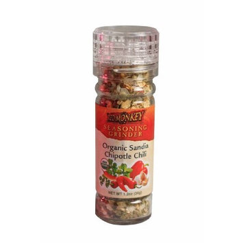 Red Monkey Foods Sandia and Chipotle Chili Spice Grinder Blend, 1.2-Ounce Bottles (Pack of 6)