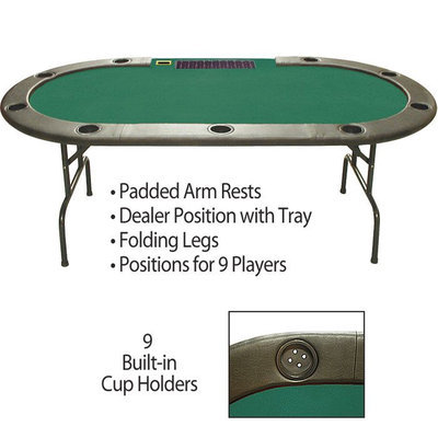 Trademark Commerce Trademark 96 Inch Hold'em Table with Dealer Position