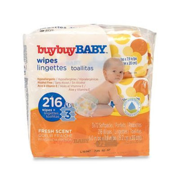 Wipes: Buybuy Baby Wipes Fresh Scent 3X Refills 216Ct
