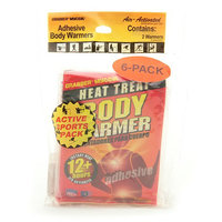 Grabber Warmers 12+ Hour Adhesive Peel N' Stick Body Warmers (6-Pack Adhesive Warmer Patches)