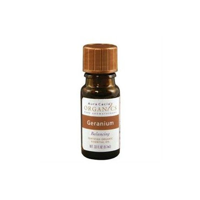 Aura Cacia - 100% Organic Essential Oil Geranium .25 oz