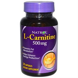 Frontier Natural Products Co-op 208769 Natrol Energy & Weight Management L-Carnitine 500 mg 30 capsules