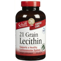 Schiff 21 Grain Lecithin, Dietary Supplement, 250 Count (Pack of 3)