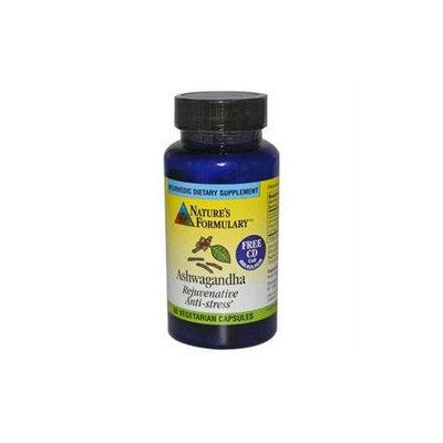 Natures Formulary 0813527 Ashwagandha - 60 Vegetarian Capsules