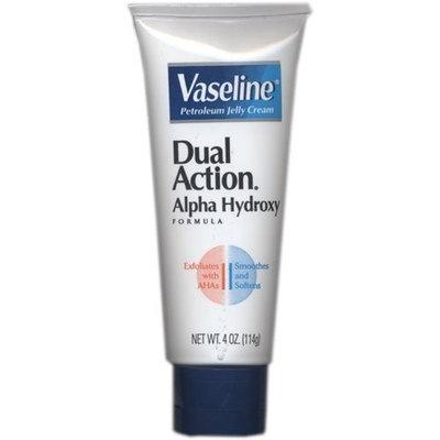 Vaseline Petroleum Jelly Cream, Dual Action Alpha Hydroxy Formula 4 Fl Oz (Pack of 4)