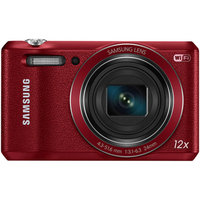 Samsung Red WB35F Digital Camera with 16.2 Megapixels and 12x Optical Zoom
