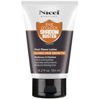 Nicel Bioactives Five O'Clock Shadow Buster Post Shave Lotion, 4.2 fl oz