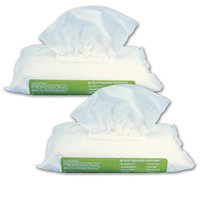 Closeoutzone Disposable Washcloths Pre-moistened Hypo-Allergenic Wipes (Set of 2)