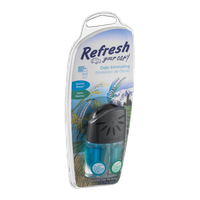 Refresh Your Car! Dual Scent Odor Eliminating Vent Attachment Summer Breeze and Alpine Meadow