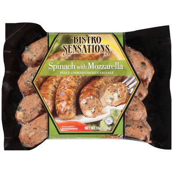 Bistro Sensations: Spinach With Mozzarella Chicken Sausage, 12 Oz