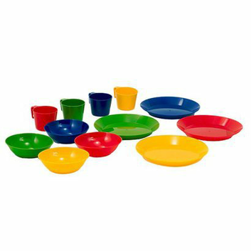 GSI Outdoors, Inc. 12-pc. Outdoor Tableware Set - Mixed Colors