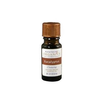 Aura Cacia - Essential Oil Organic Eucalyptus - 0.25 oz.