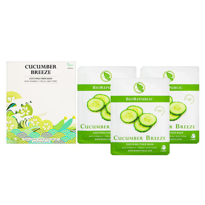 BioRepublic Cucumber Breeze Soothing Fiber Mask