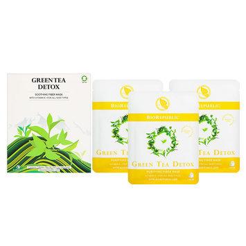 BioRepublic Skincare Green Tea Detox Purifying Fiber Mask Set