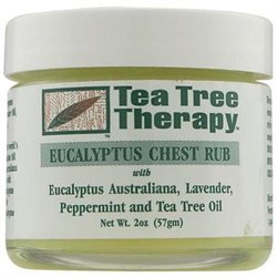 Tea Tree Therapy Eucalyptus Chest Rub, 2 oz