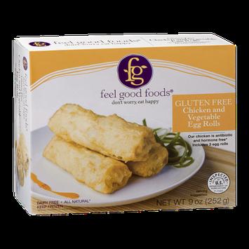 Feel Good Foods Chicken and Vegetable Egg Rolls Gluten Free