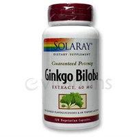 Solaray Ginkgo Biloba Extract - 60 mg - 120 Vegetarian Capsules