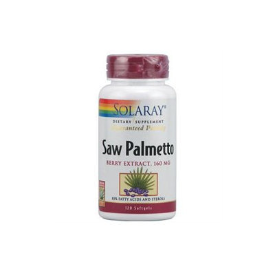 Solaray Saw Palmetto Berry Extract - 160 mg - 120 Softgels