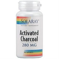 Solaray Activated Charcoal 280 MG - 90 Capsules - Enzymes