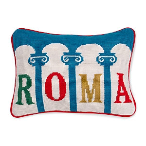 Jonathan Adler Jet Set Rome Decorative Pillow, 9 x 12