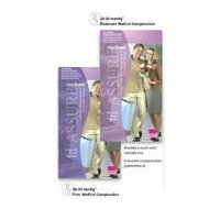 Mediven Assure, Closed Toe, with top band, 20-30 mmHg, Thigh High Compression Stocking, Medium, Black