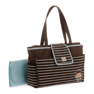 Child of Mine by Carter's Child of Mine Stripe Monkey Tote Diaper Bag