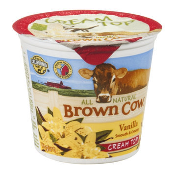 Brown Cow Cream Top Yogurt Vanilla All Natural