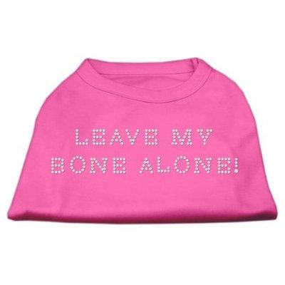 Mirage Pet Products 5242 XSBPK Leave My Bone Alone Rhinestone Shirts Bright Pink XS 8