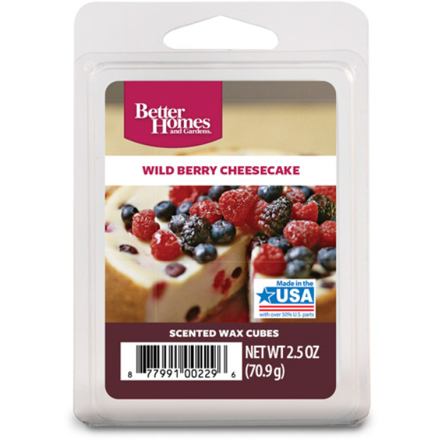 Better Homes and Gardens Wax Cubes, Wild Berry Cheesecake
