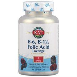 Kal - B6 B12 Folic Acid Lozenge - 60 Lozenges