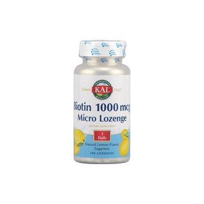 Kal Biotin Lemon - 1000 mcg - 100 Lozenges