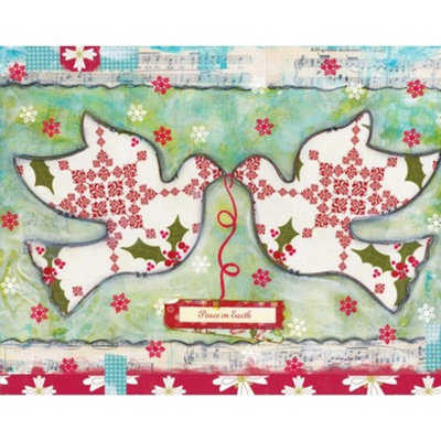 Perfect Timing, Inc. Christmas Cards - Peace on Earth Doves