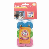 Bamboo Care Disposable Waste Bags Refill with Arm & Hammer