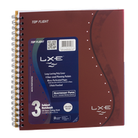 Top Flight LXE 3 Subject Notebook College Ruled - 120 Sheets