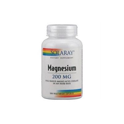 Solaray Magnesium - 200 mg - 100 Vegetarian Capsules