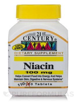 21st Century Healthcare Niacin 100 mg 110 Tablets, 21st Century Health Care
