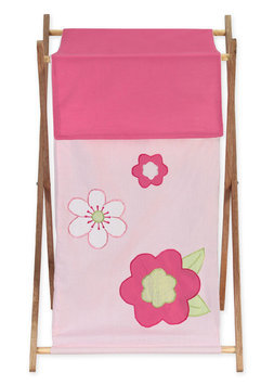 Sweet Jojo Designs Flower Laundry Hamper in Pink